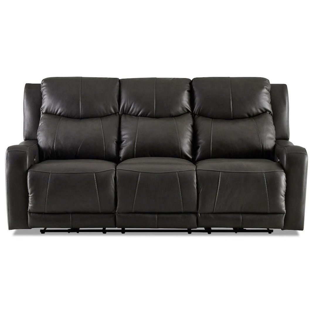 Halifax Power Reclining Sofa w/ Power Head by Klaussner at Northeast Factory Direct