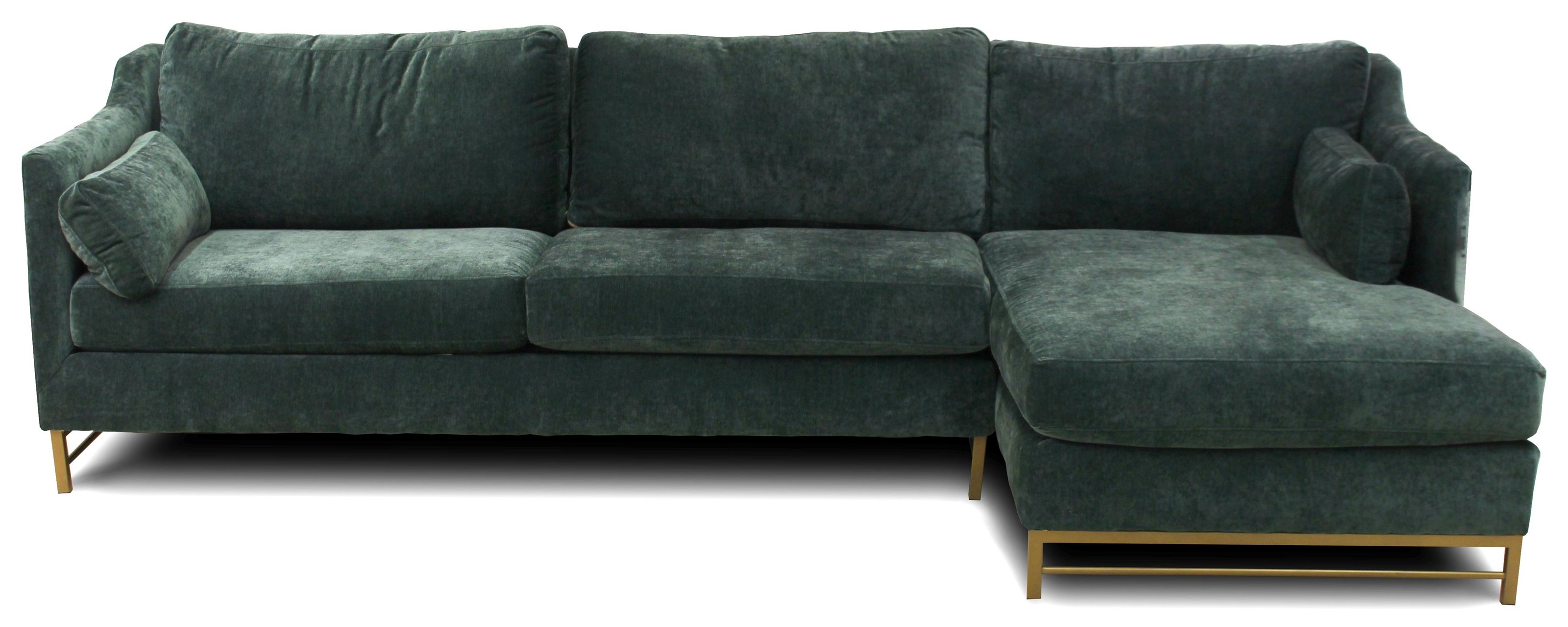 Haylee 3-Seat Modular Chaise Sofa w/ RAF Chaise by Metropia at Ruby Gordon Home