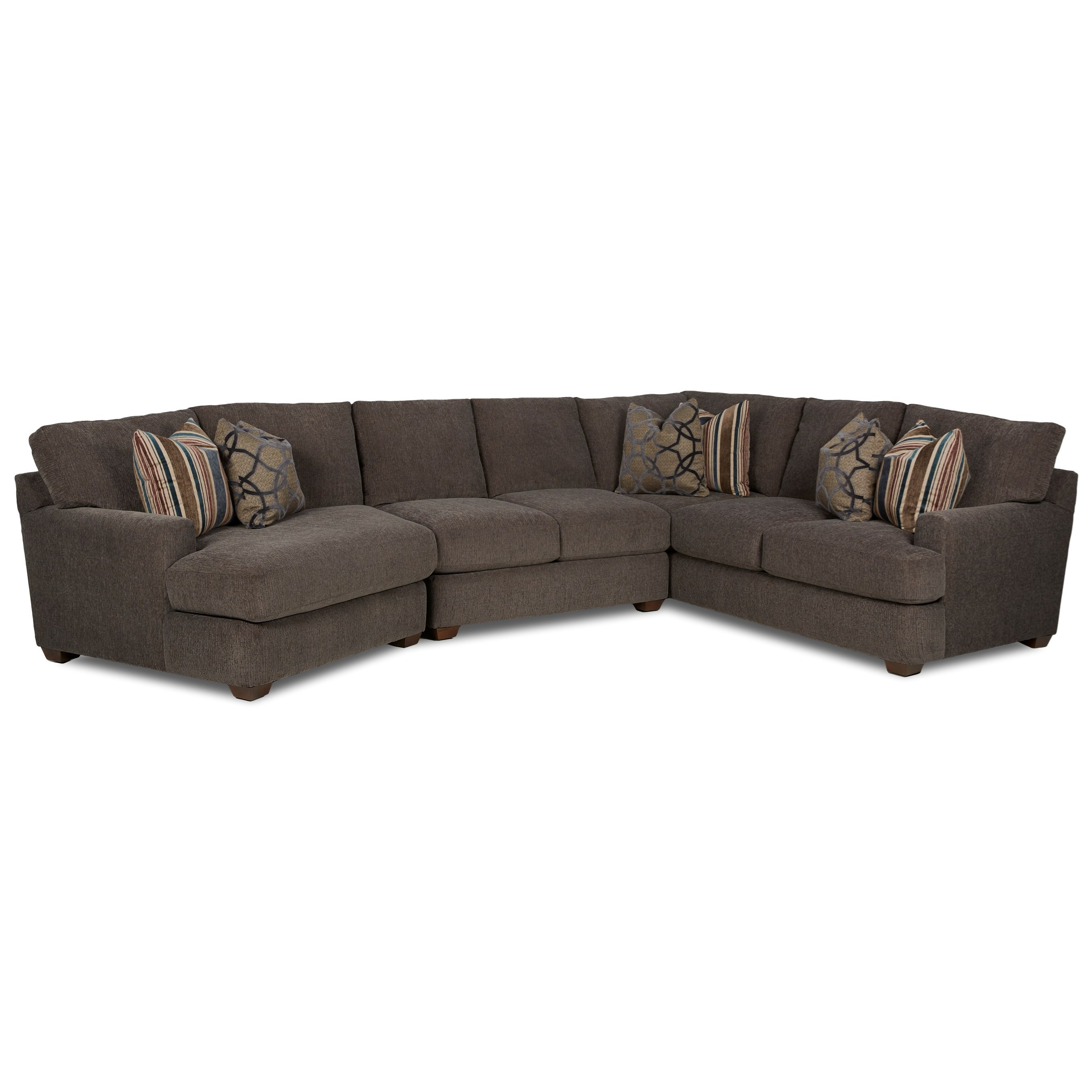 Haynes 3 Pc Sectional Sofa w/ LAF Cuddler by Klaussner at Johnny Janosik