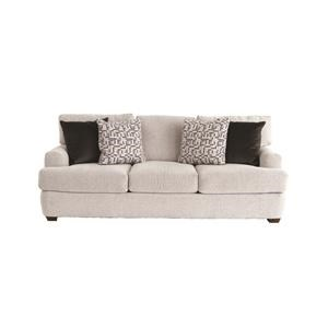 Casual Sofa with Deep Seats and Club Arms