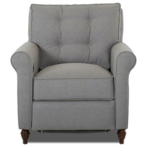 Power Hybrid Chair with Button Tufted Seat Back