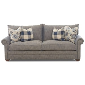 Traditional Two Cushion Sofa