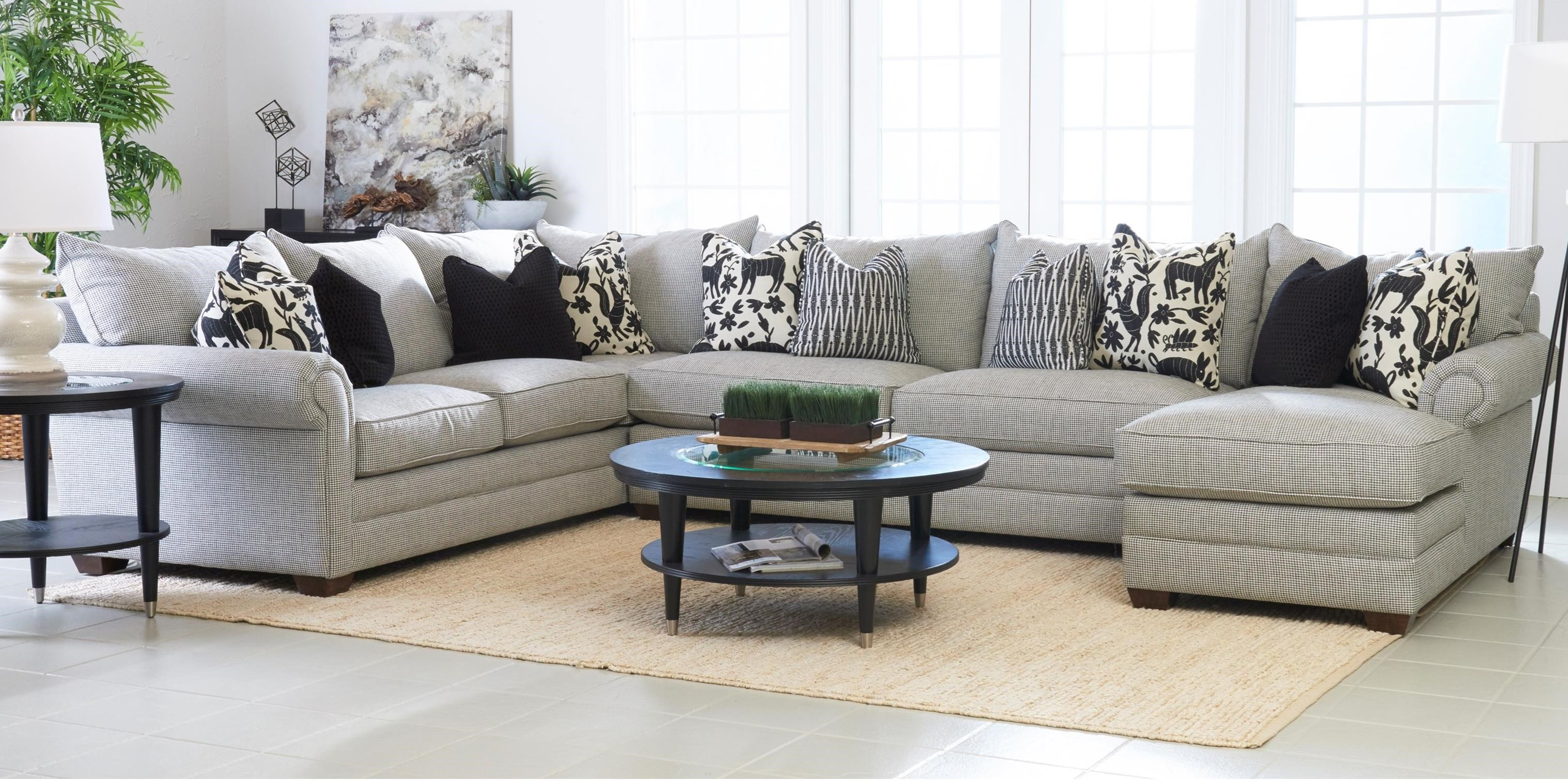 Huntley 3 Pc Sectional Sofa w/ RAF Chaise by Klaussner at Johnny Janosik