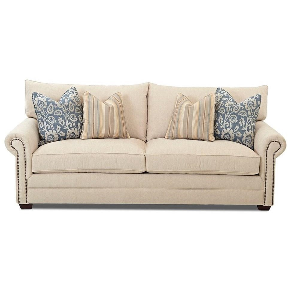 Huntley Sofa by Klaussner at Lapeer Furniture & Mattress Center