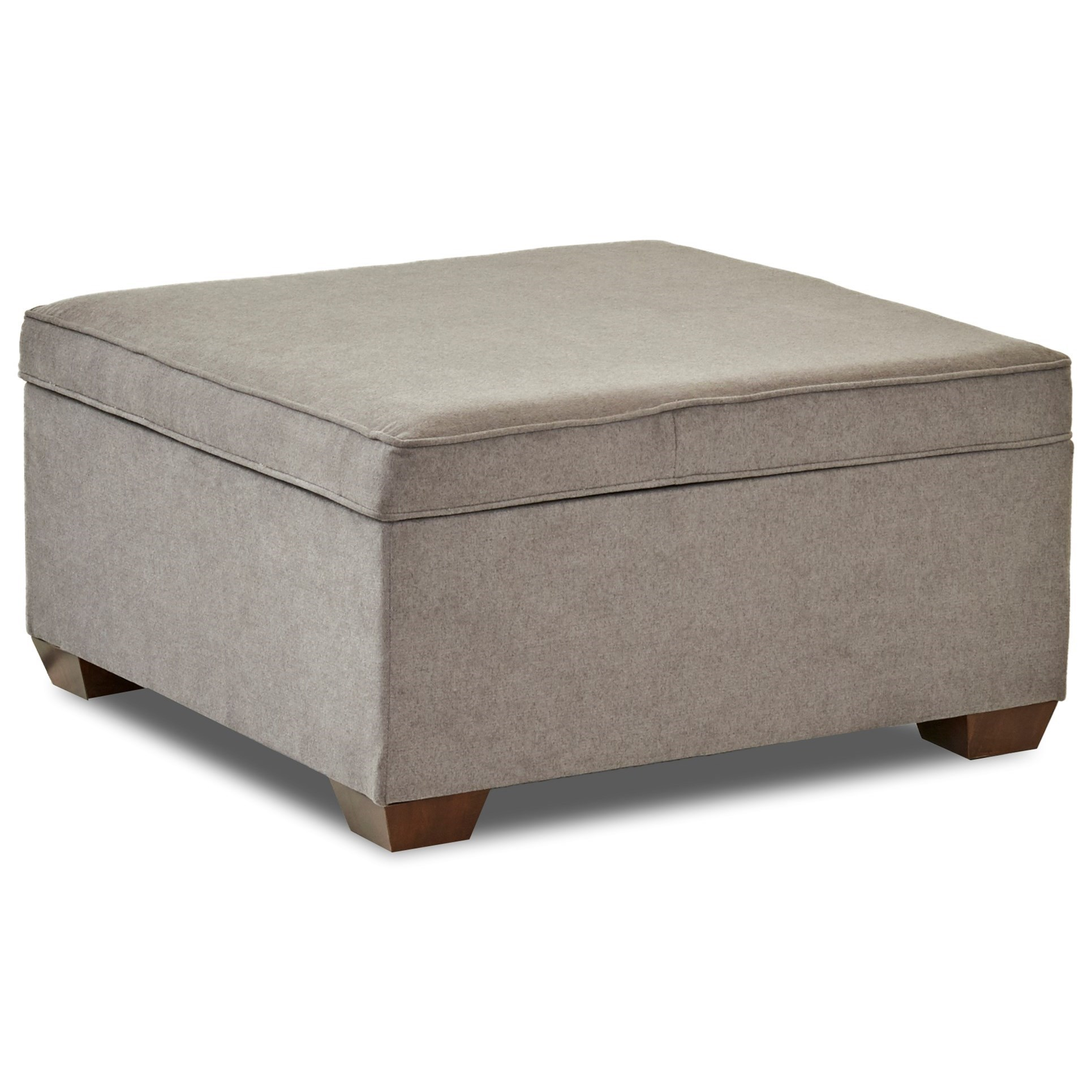 Hybrid Square Cocktail Storage Ottoman by Klaussner at Northeast Factory Direct