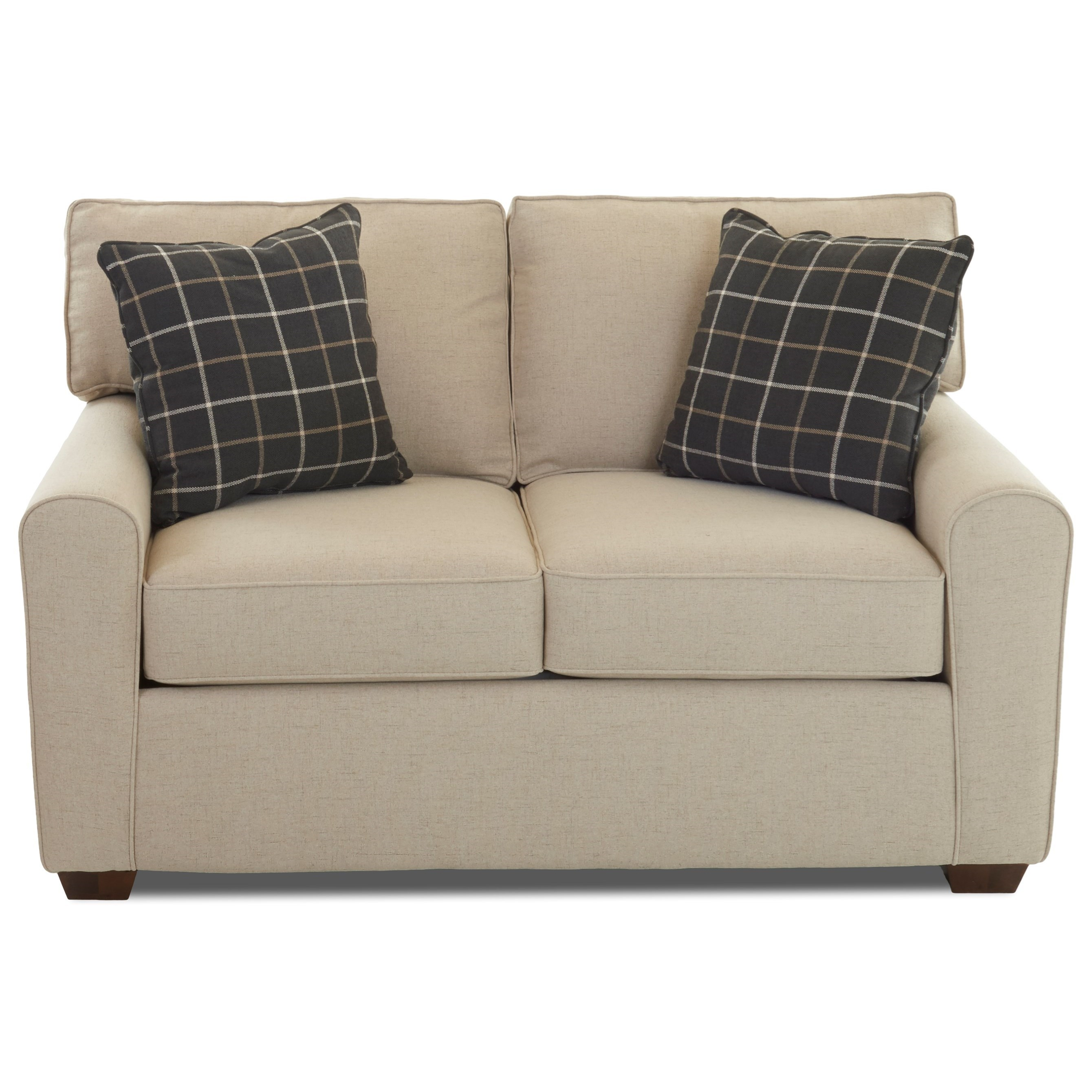 Hybrid Loveseat w/ Box Cushions by Klaussner at Northeast Factory Direct
