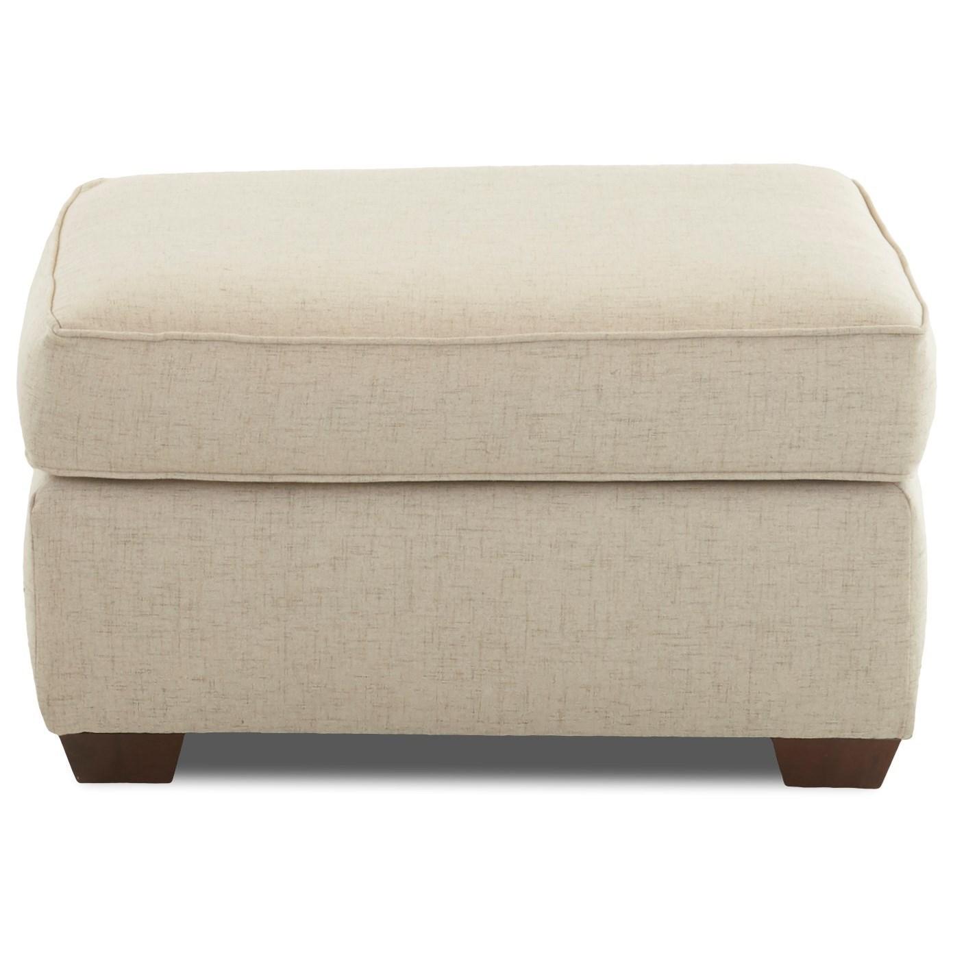 Hybrid Chair Ottoman by Klaussner at Lapeer Furniture & Mattress Center