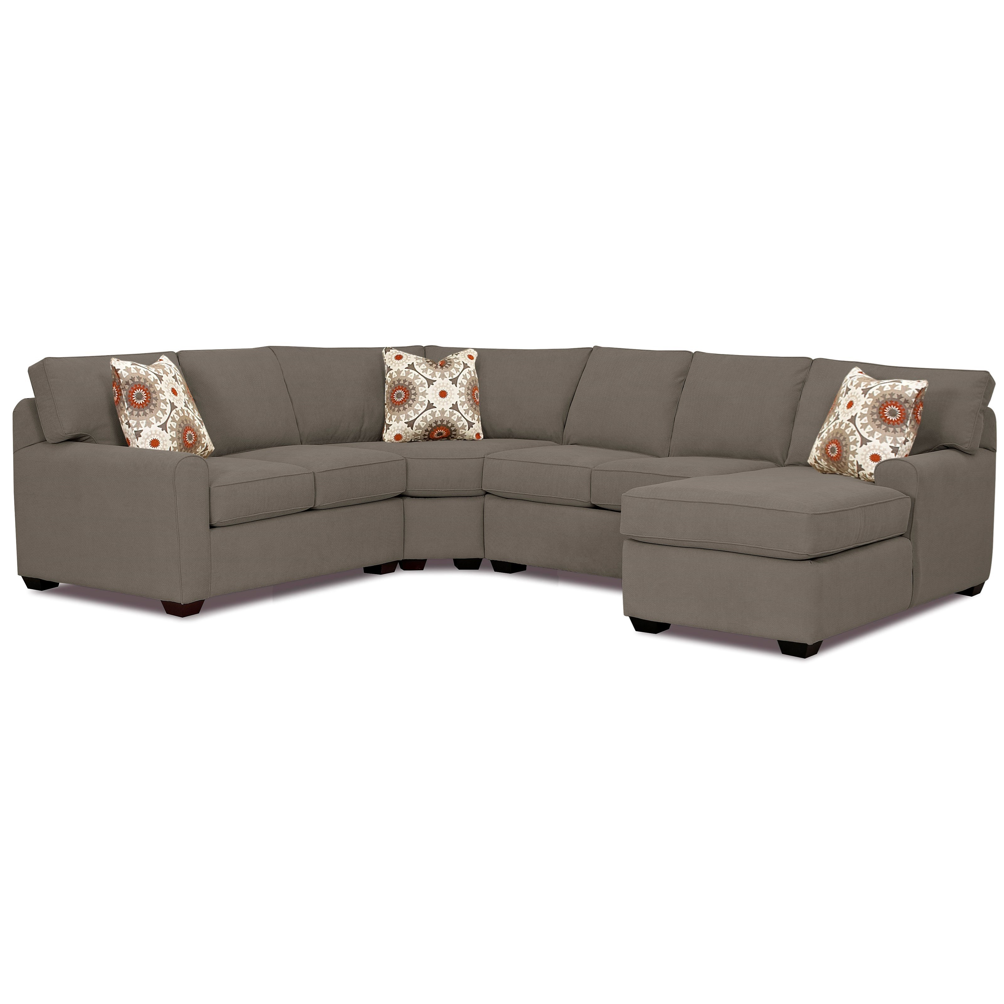 Hybrid 4 Pc Sectional Sofa w/RAF Chaise by Klaussner at Catalog Outlet