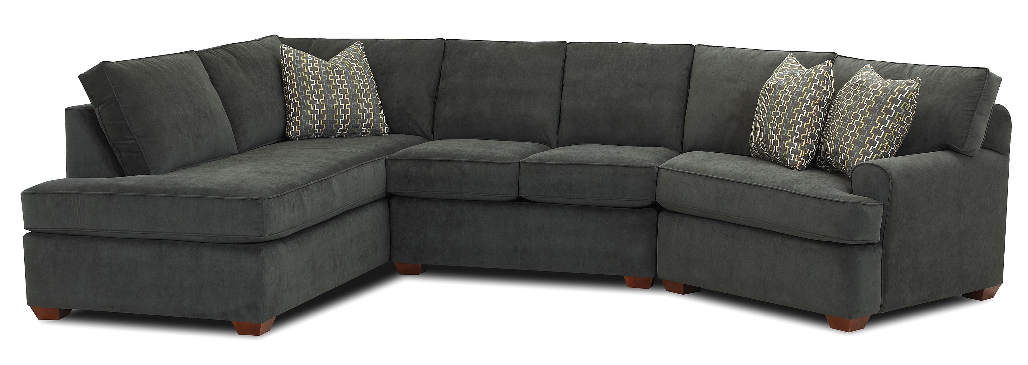 Hybrid Sectional Sofa by Klaussner at Northeast Factory Direct