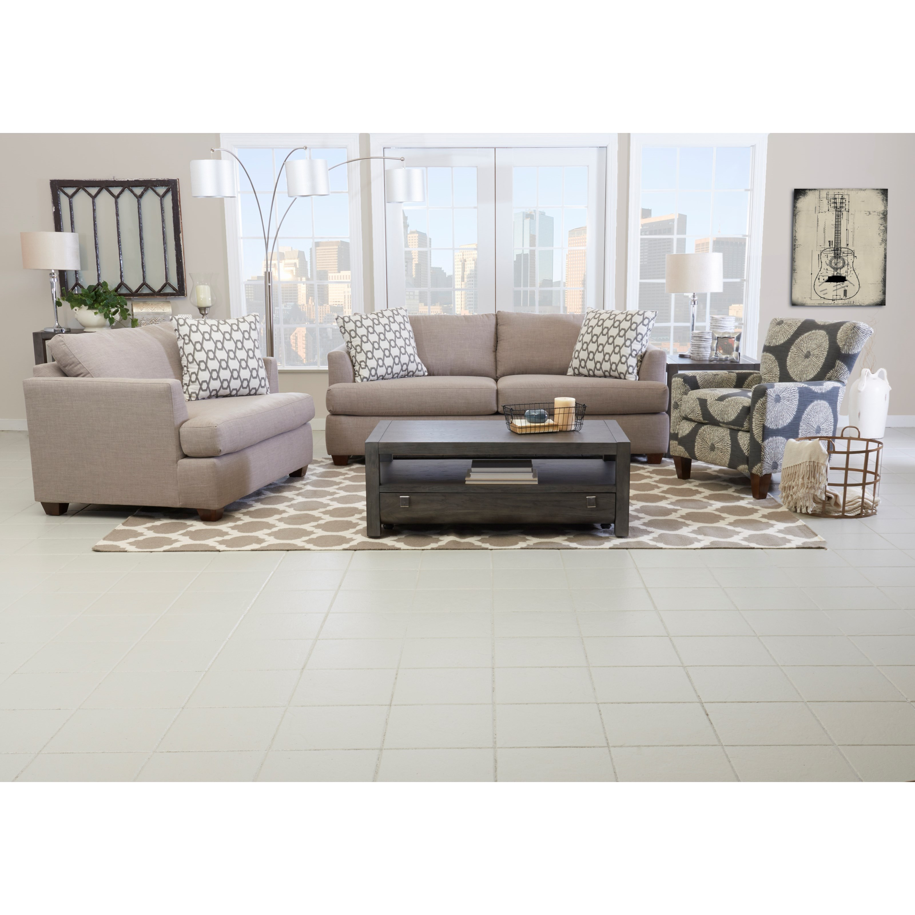 Jack Living Room Group by Klaussner at Johnny Janosik