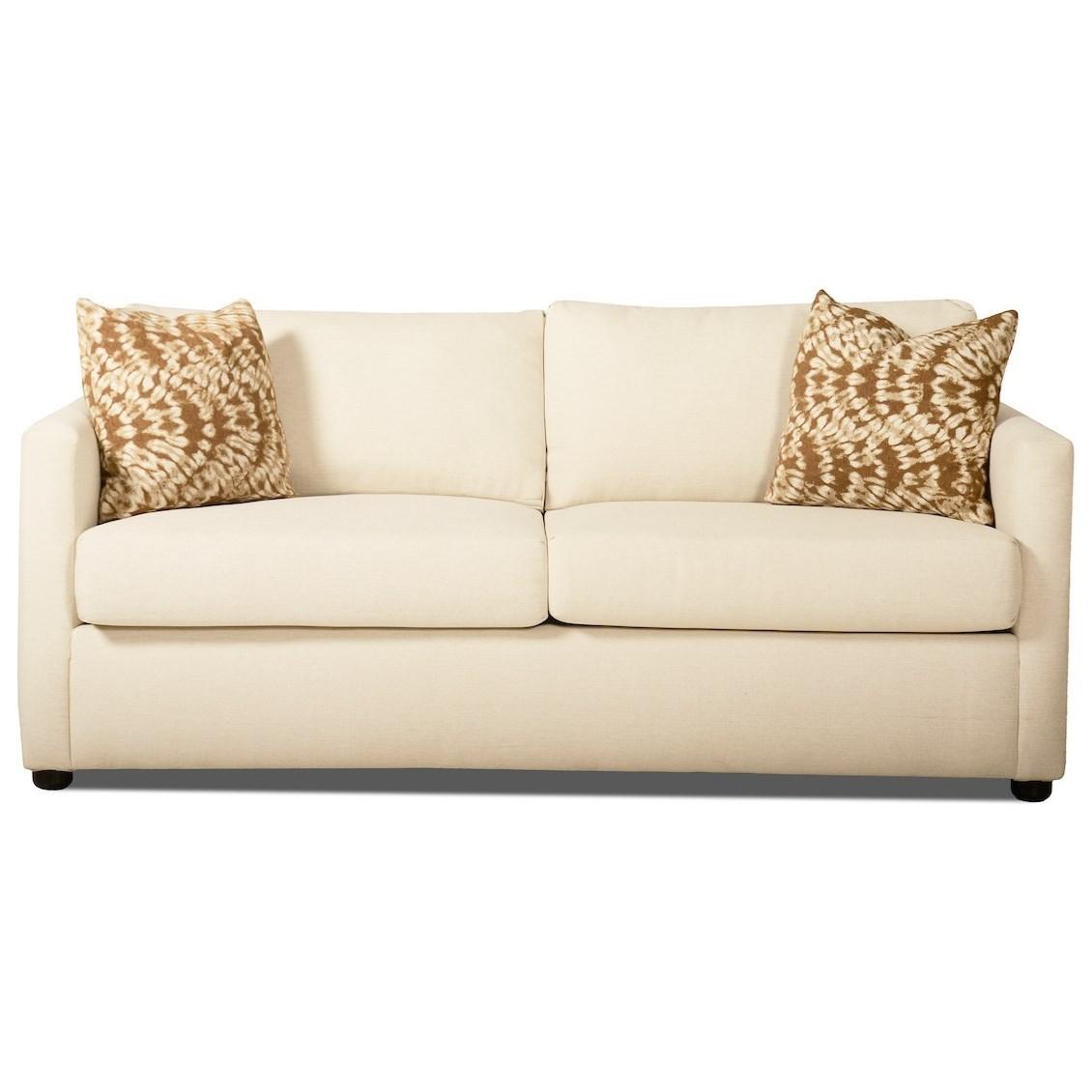 Jacobs Queen Sleeper Sofa w/ Dreamquest Mattress by Klaussner at Northeast Factory Direct