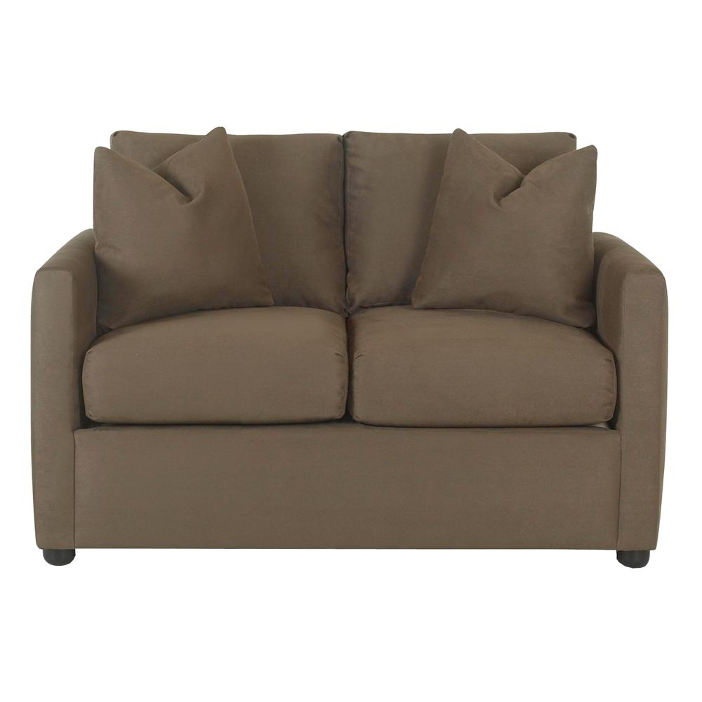 Jacobs Upholstered Stationary Love Seat by Klaussner at Catalog Outlet