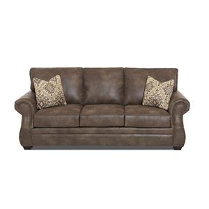 Traditional Air Coil Mattress Sleeper Sofa with Nailhead Trim