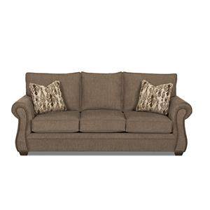 Traditional Dreamquest Queen Sleeper Sofa with Nailhead Trim