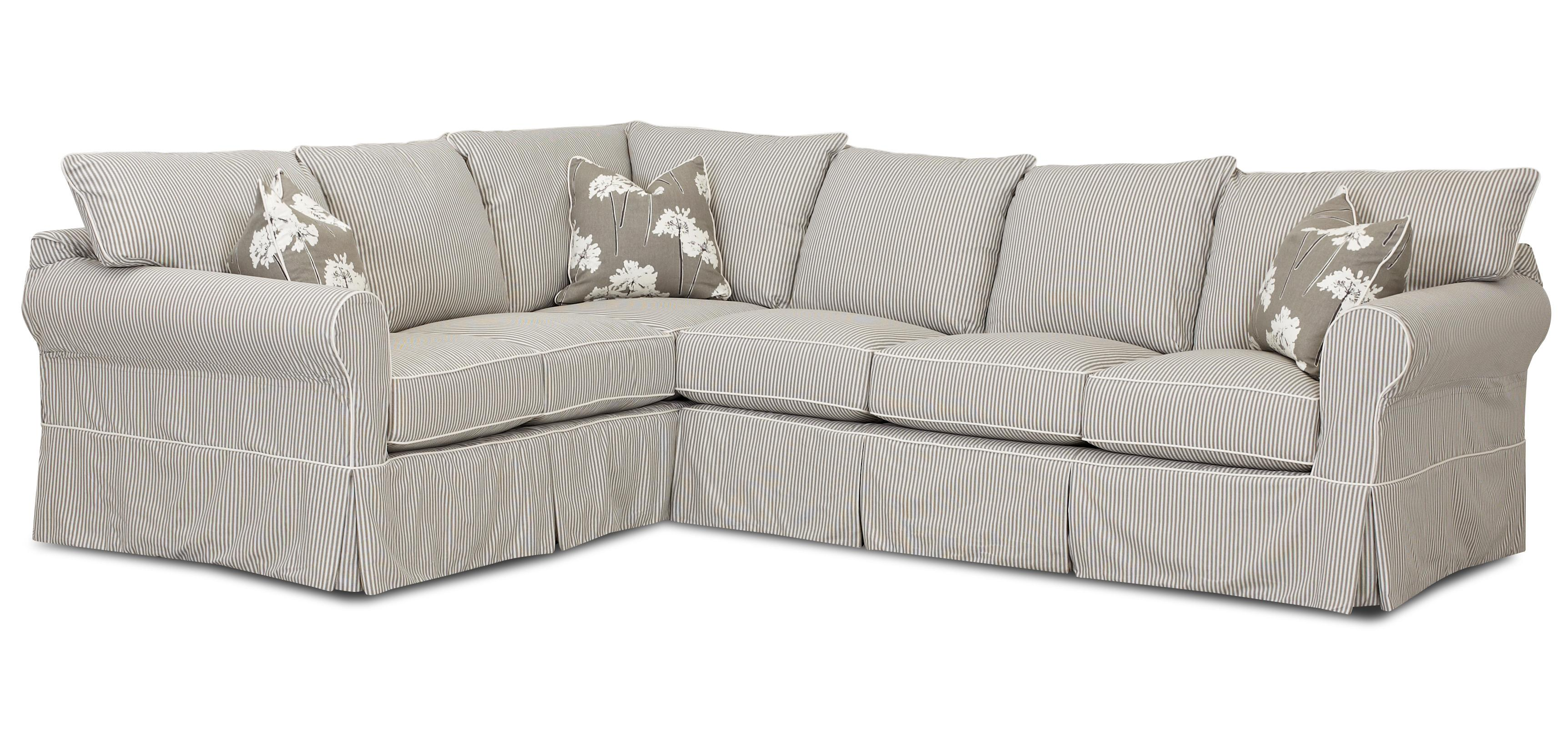 Jenny Transitional 2 Piece Sectional Sofa by Klaussner at Northeast Factory Direct
