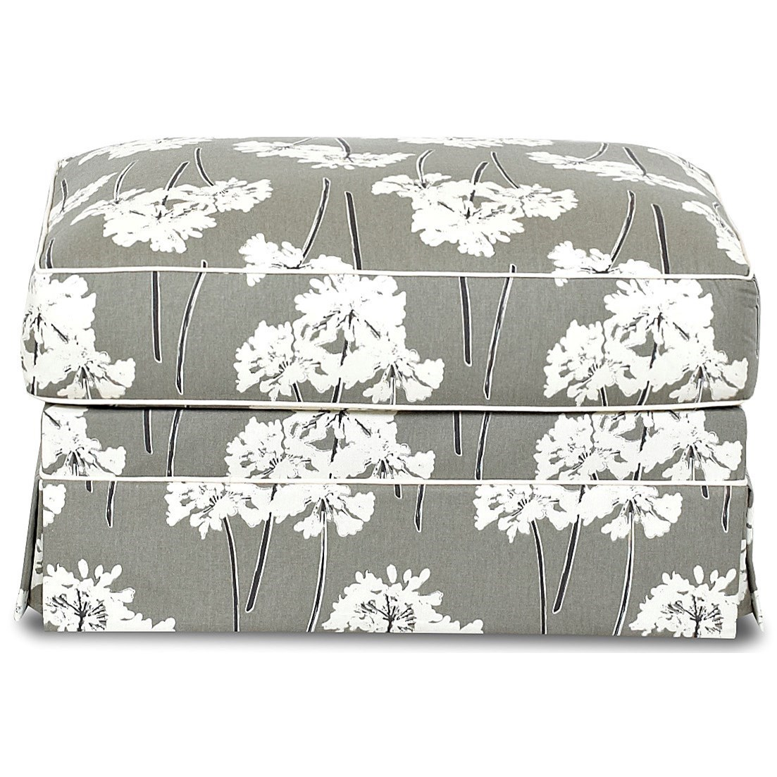 Jenny Ottoman by Klaussner at Lapeer Furniture & Mattress Center