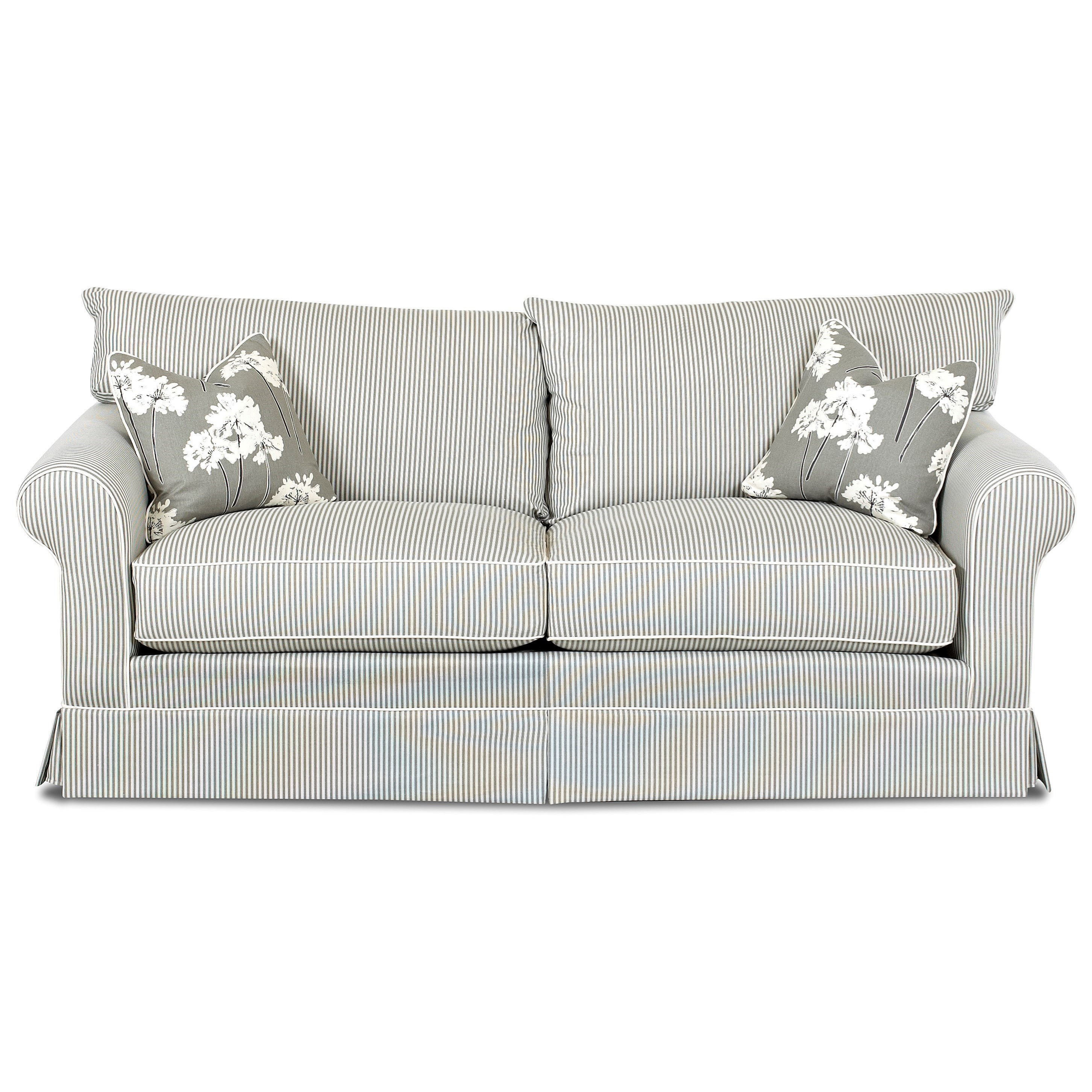 Jenny Transitional Stationary Sofa by Klaussner at Johnny Janosik