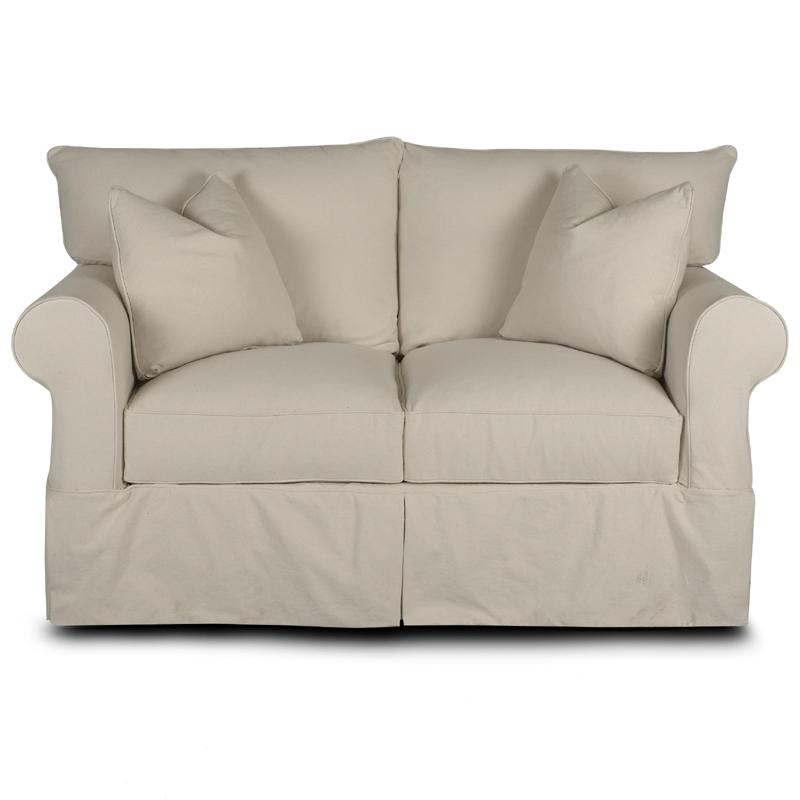 Jenny Loveseat with Rolled Arms  by Klaussner at Johnny Janosik