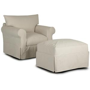Klaussner Jenny Chair & Ottoman