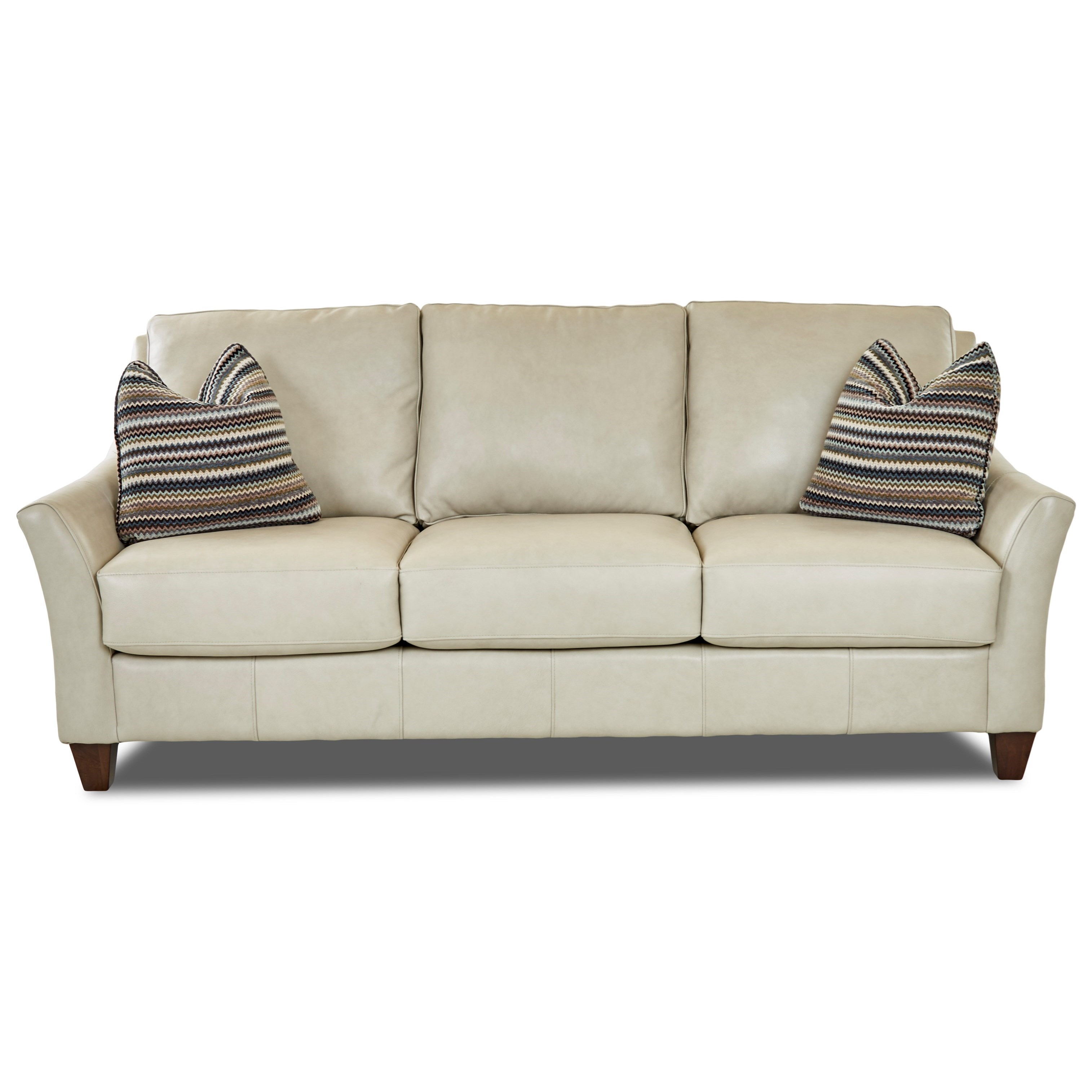 Joanna Sofa w/ Arm Pillows by Klaussner at Northeast Factory Direct