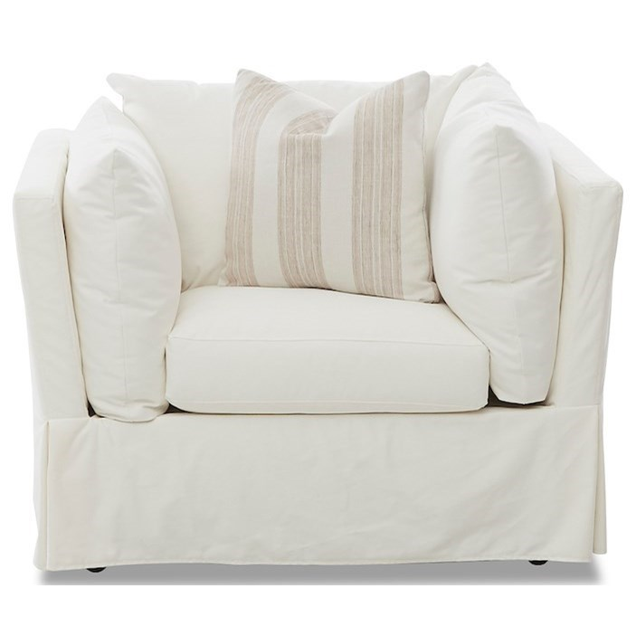 Jojo Big Chair with Slipcover by Klaussner at Johnny Janosik