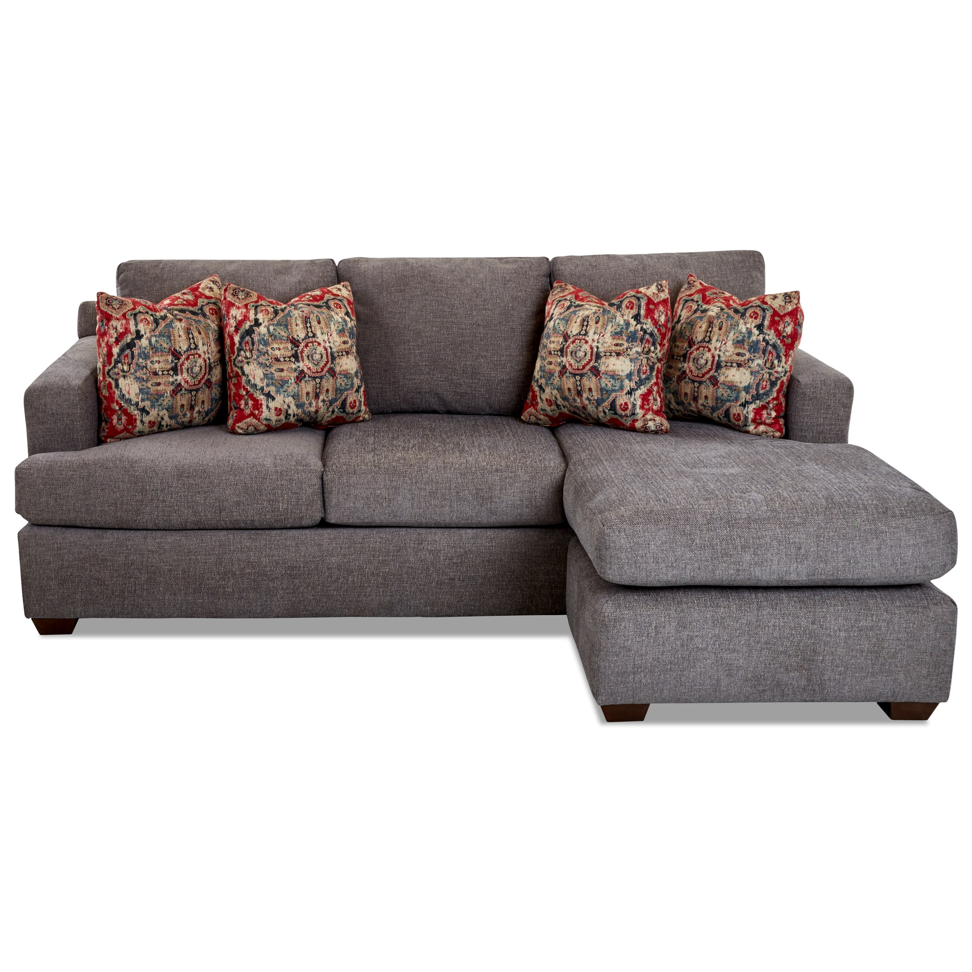 Juniper 2-Piece Sofa Chaise Sectional by Klaussner at Johnny Janosik
