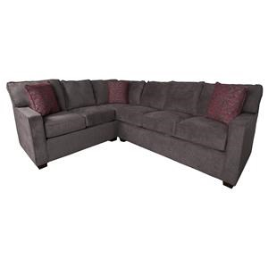 Modern Sectional Sofa with Accent Pillows