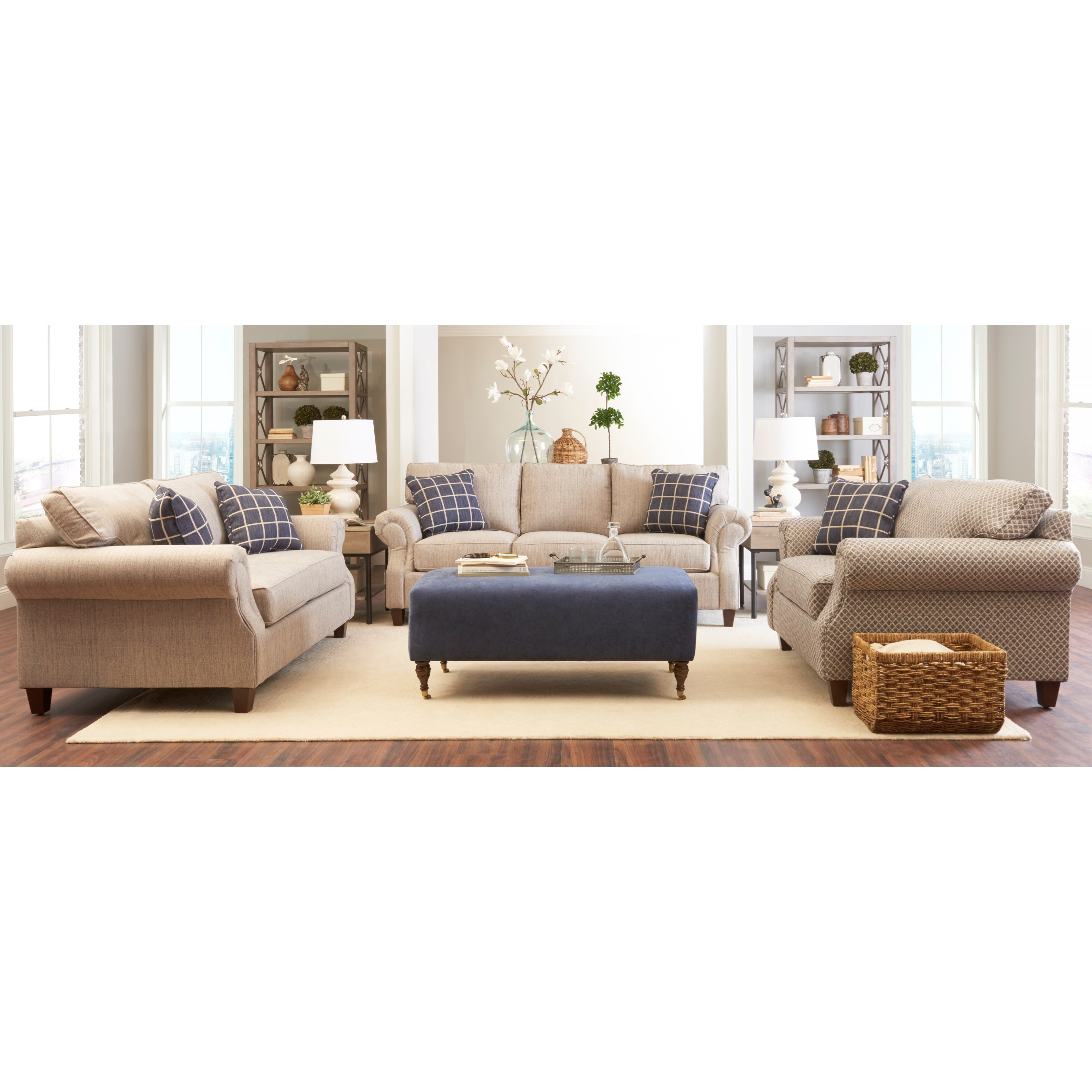 Serena Living Room Group by Klaussner at Northeast Factory Direct