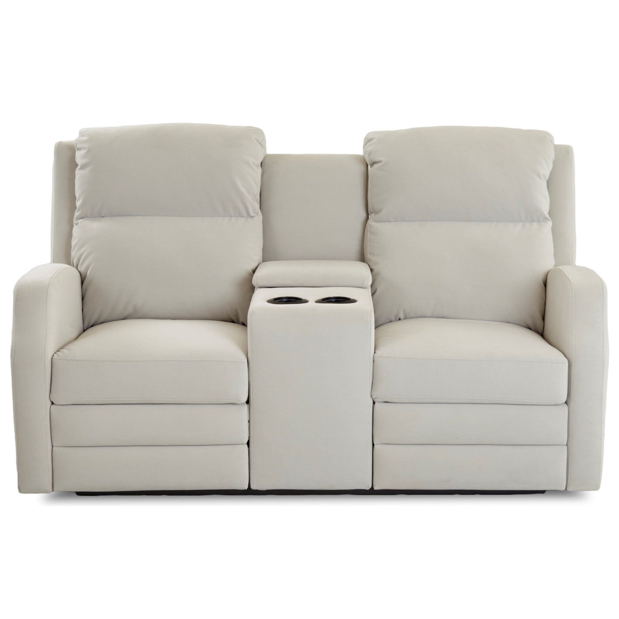 Kamiah Pwr Console Reclining Loveseat w/ Pwr Head by Klaussner at Lapeer Furniture & Mattress Center