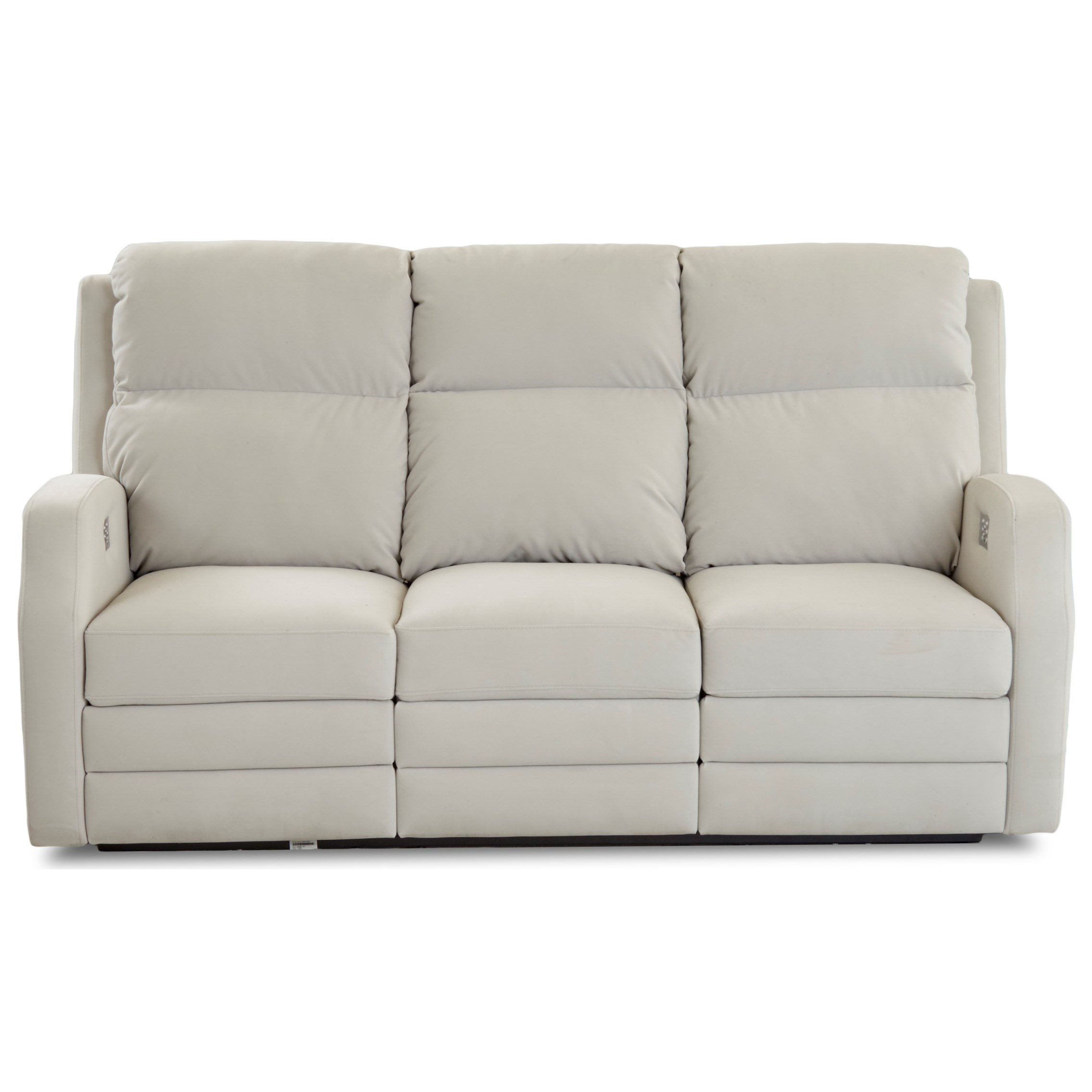 Kamiah Power Reclining Sofa w/ Pwr Headrests by Klaussner at Lapeer Furniture & Mattress Center
