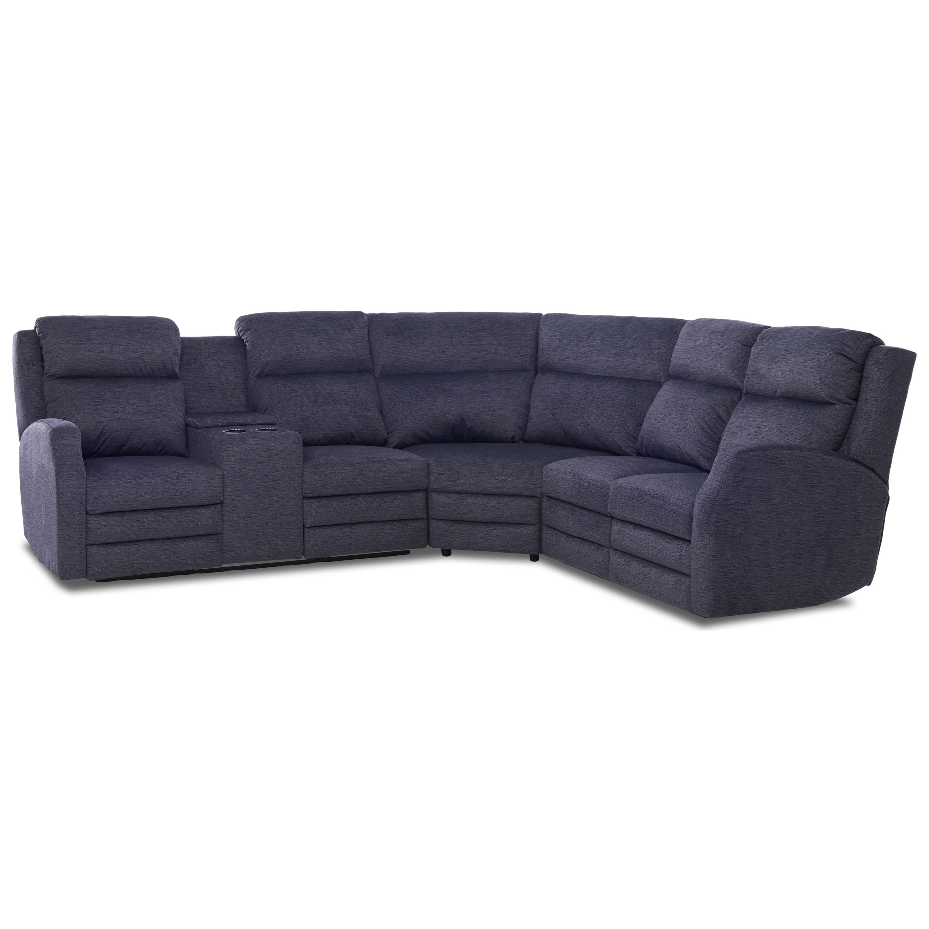 Kamiah 4 Seat Pwr Recl Sect Sofa w/ Pwr Head/Lumb by Klaussner at Catalog Outlet