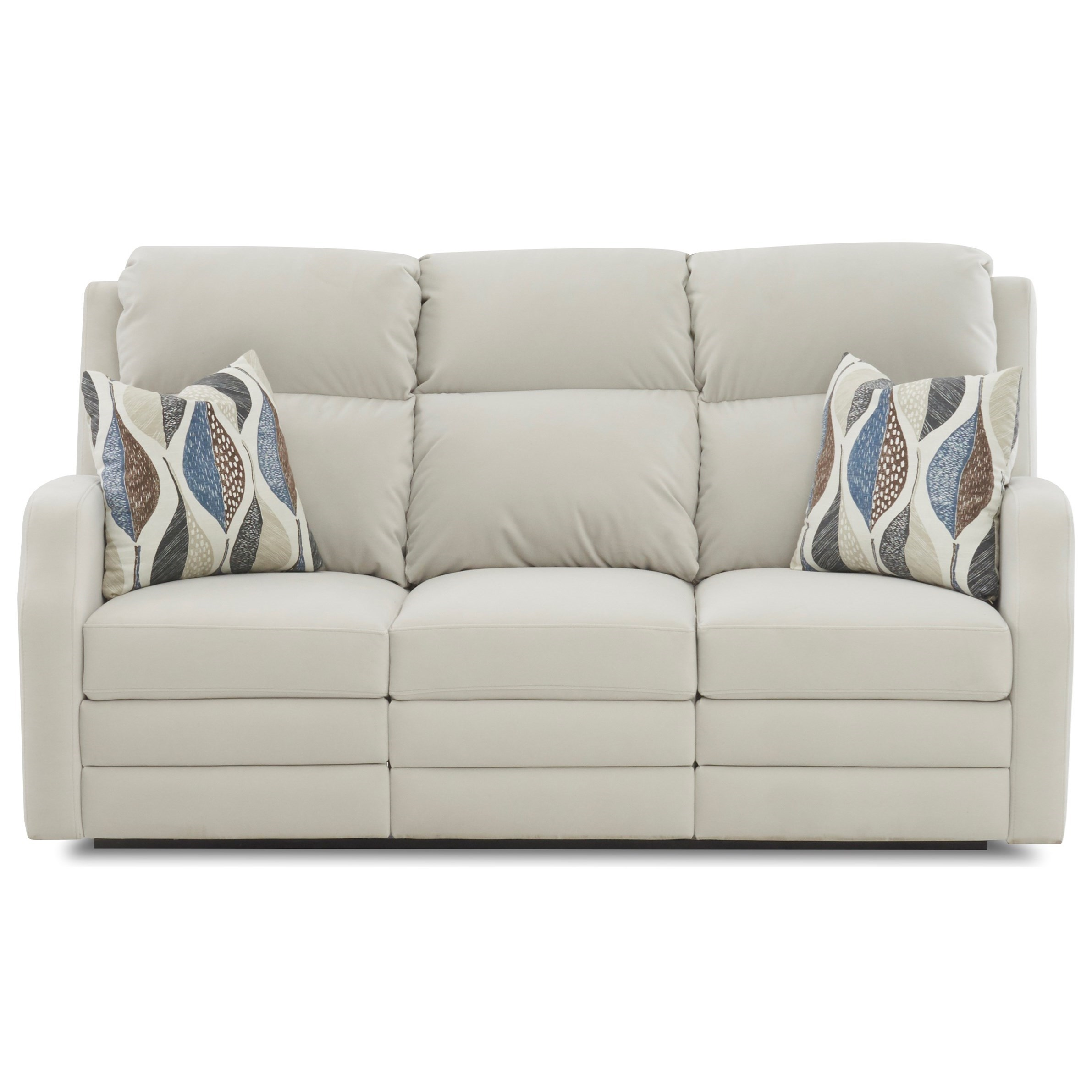 Kamiah Power Reclining Sofa w/ Pillows & Pwr Head by Klaussner at Northeast Factory Direct