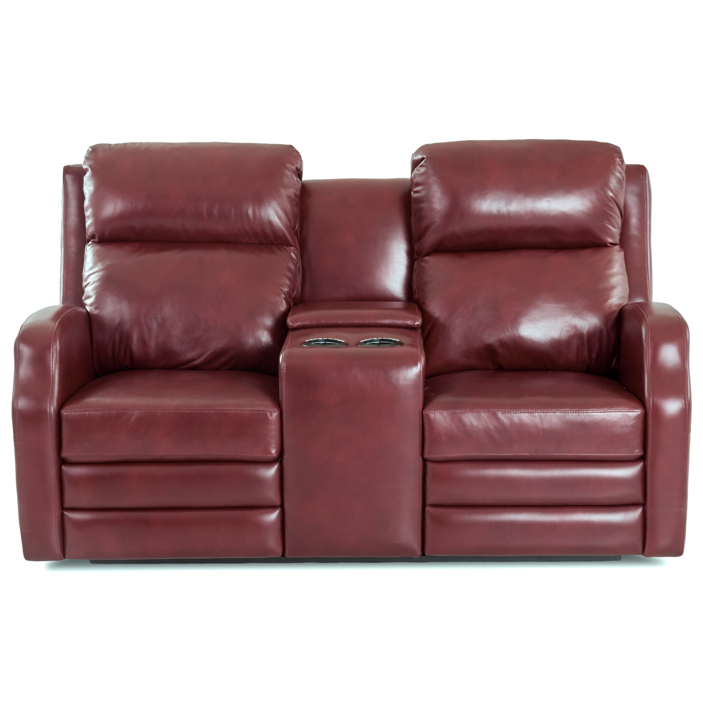 Kamiah Console Reclining Loveseat by Klaussner at Lapeer Furniture & Mattress Center