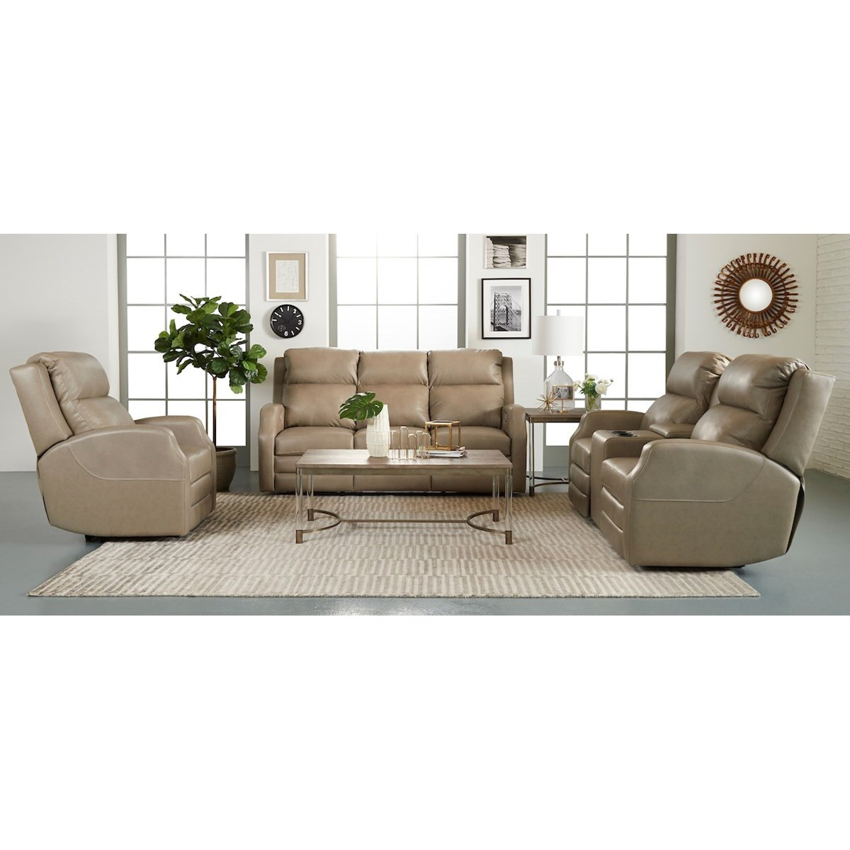 Kamiah Reclining Living Room Group by Klaussner at Catalog Outlet