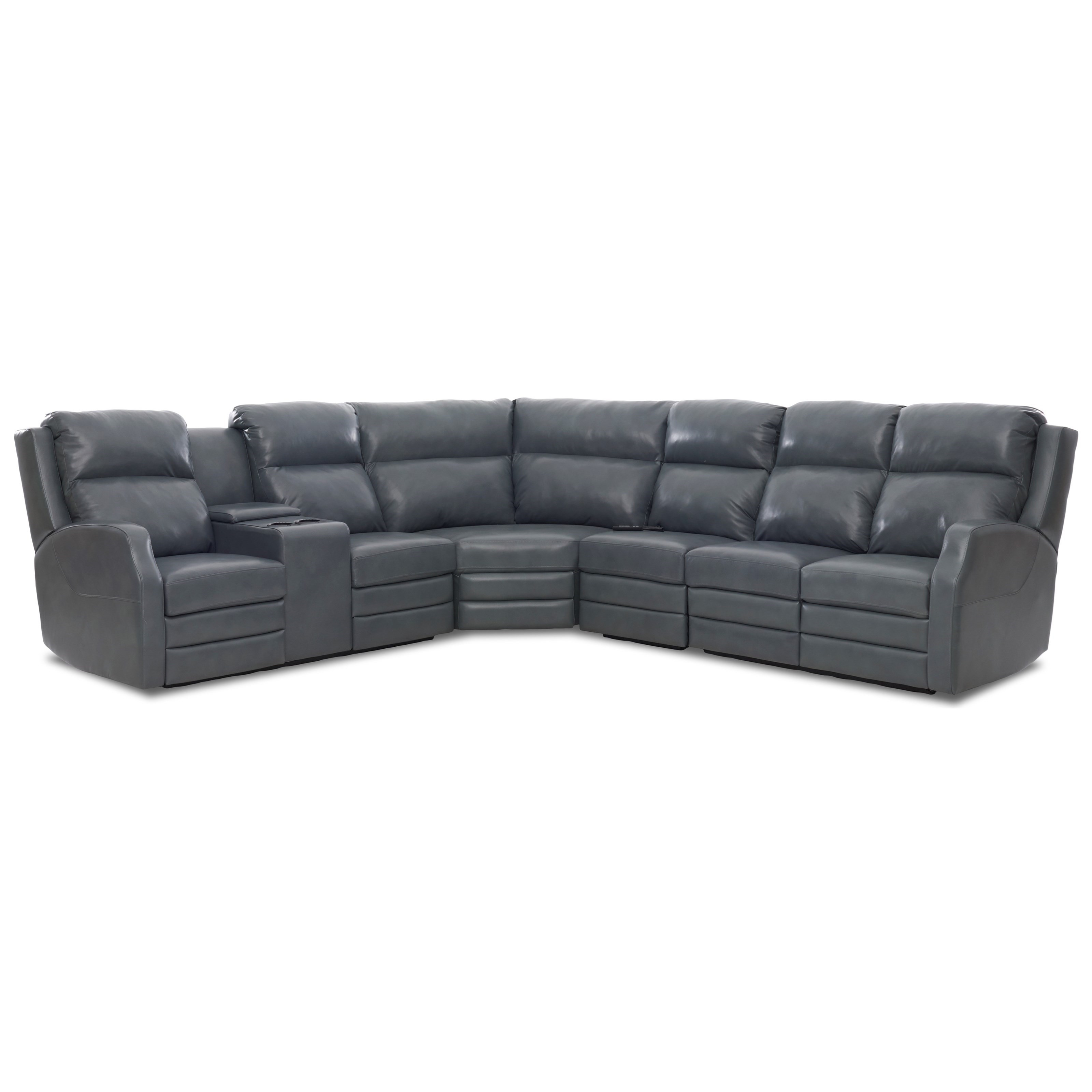 Kamiah 4 Seat Pwr Reclining Sect Sofa w/ Pwr Head by Klaussner at Lapeer Furniture & Mattress Center