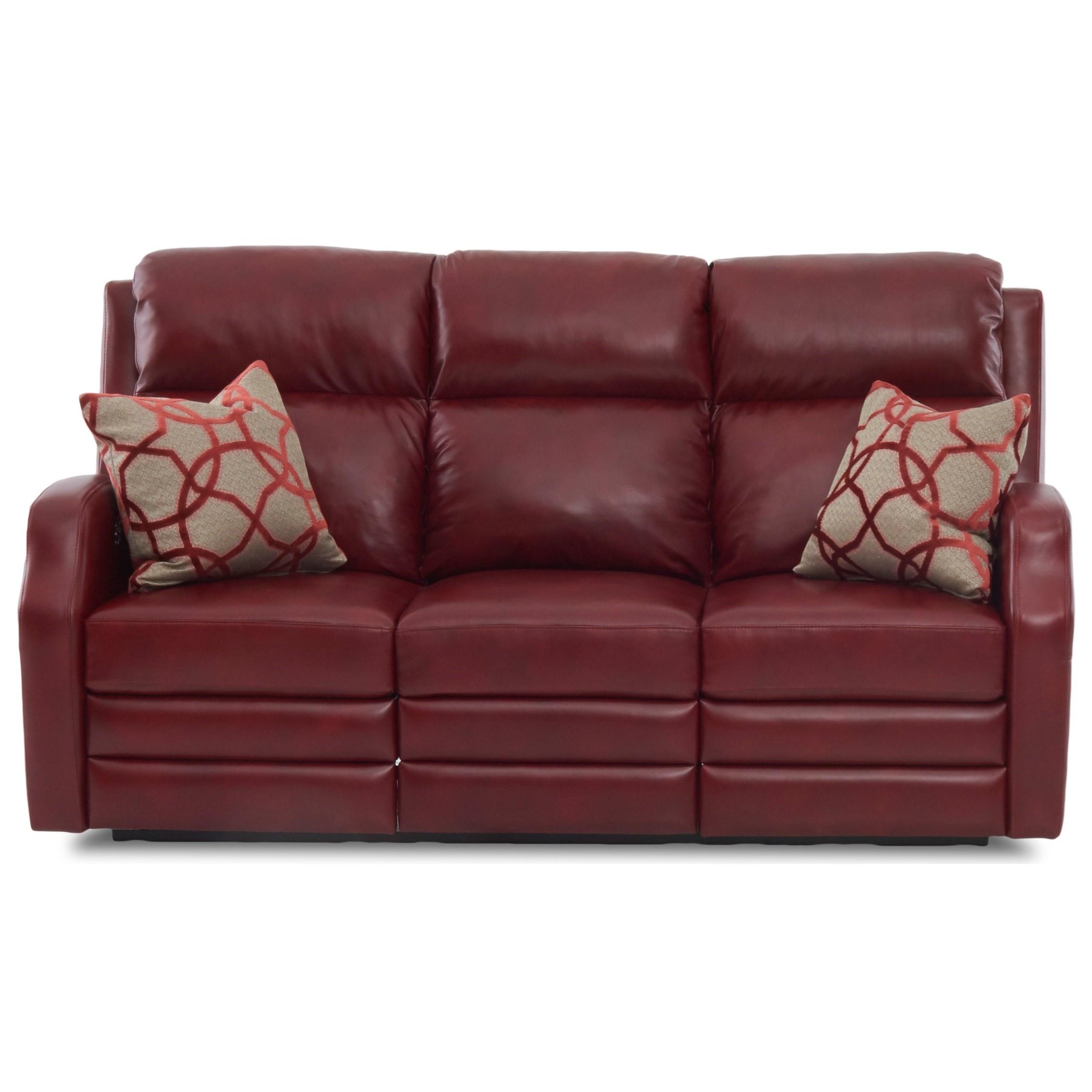 Kamiah Reclining Sofa w/ Pillows by Klaussner at Lapeer Furniture & Mattress Center