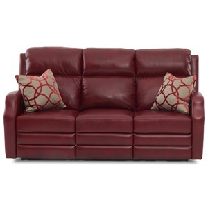 77 Inch Reclining Sofa with Pillows