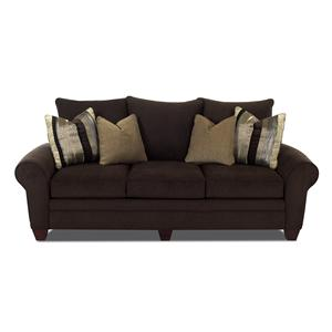 Klaussner Kazler Contemporary Stationary Sofa