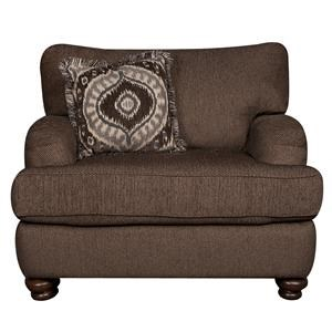 Classic Big Chair with Accent Pillow