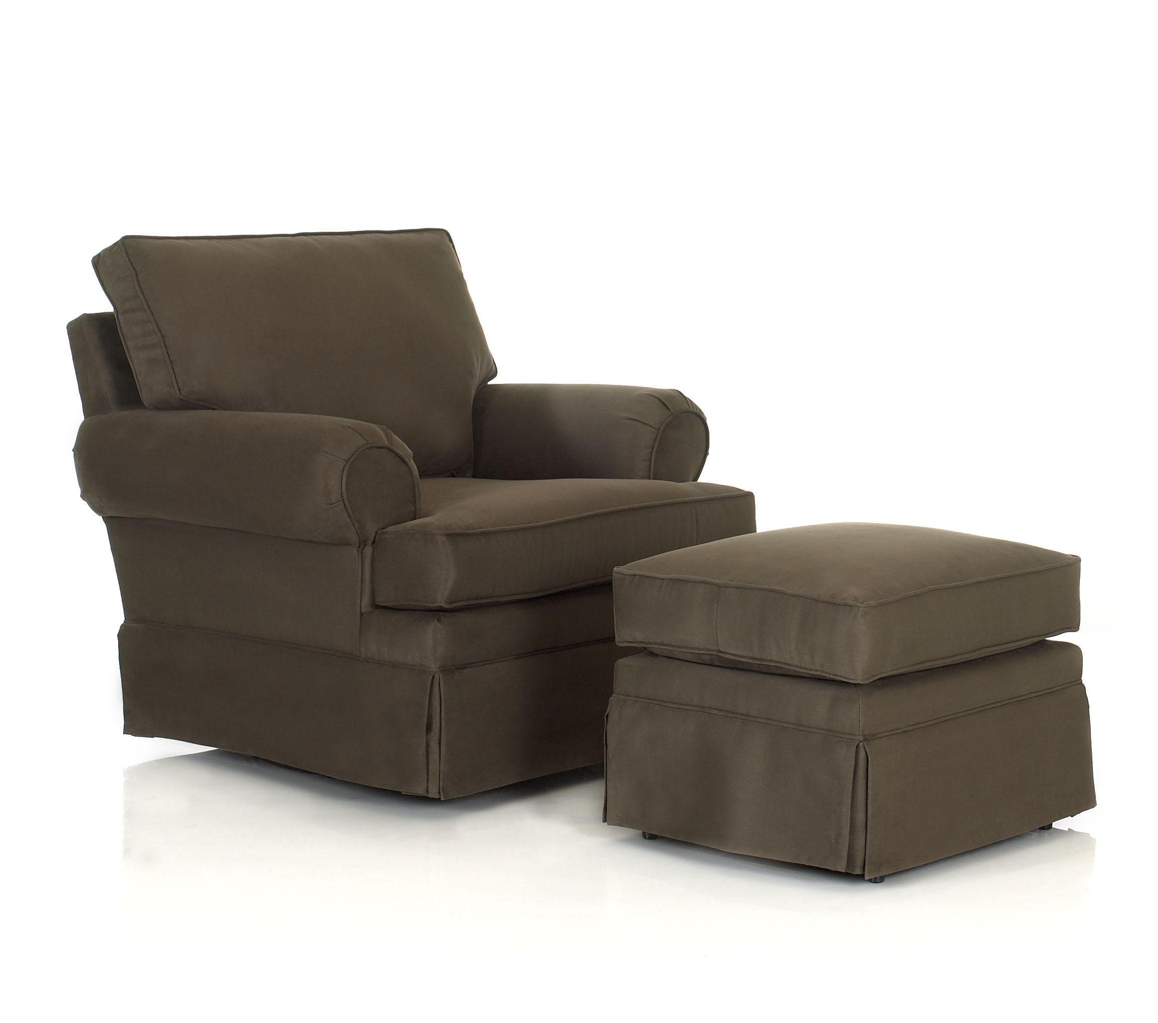 Chairs and Accents Carolina Chair and Ottoman by Klaussner at Northeast Factory Direct