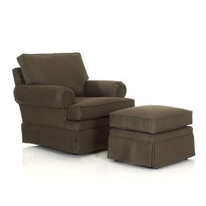 Klaussner Chairs and Accents Carolina Chair and Ottoman