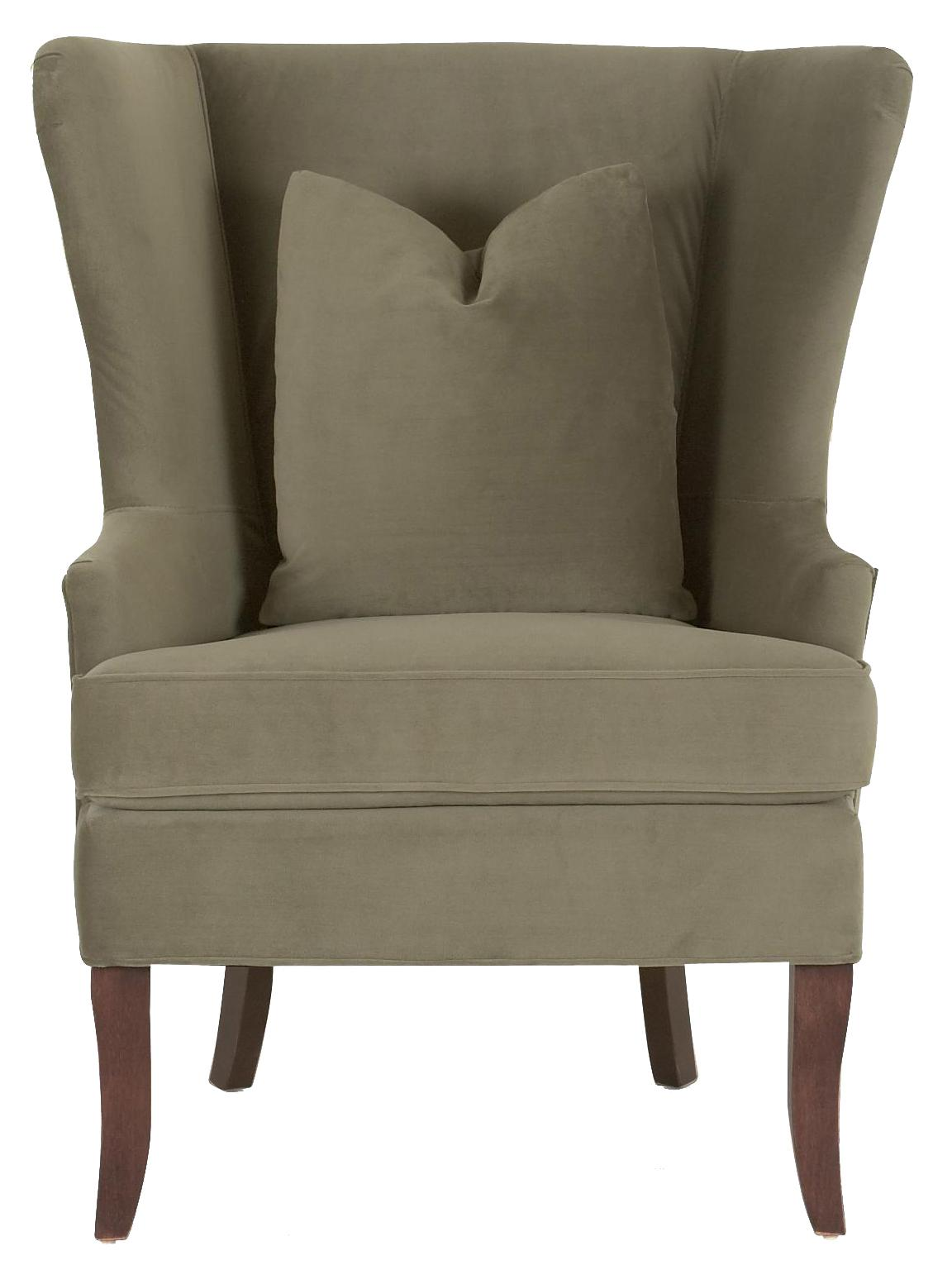 Chairs and Accents Serenity Chair with Down Blend Cushions by Klaussner at Johnny Janosik
