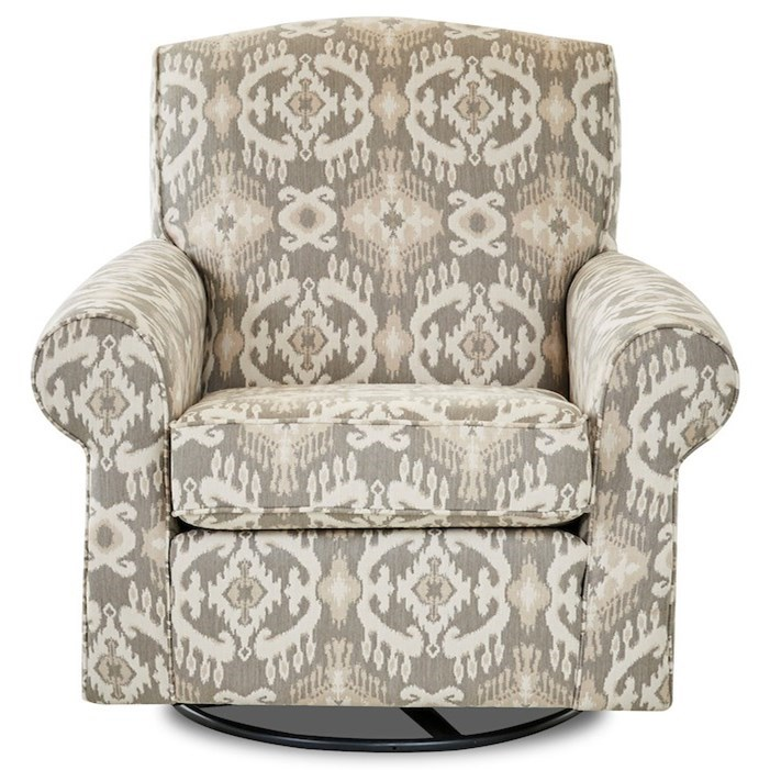 Chairs and Accents Marie Swivel Chair by Klaussner at Johnny Janosik