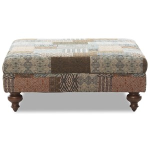 Lyle Cocktail Ottoman with Turned Feet