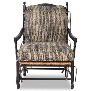 Homespun Accent Chair with Exposed Wood