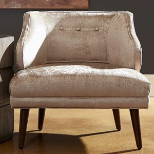 Mallory Chair with Button Tufting and Cut Out Detail