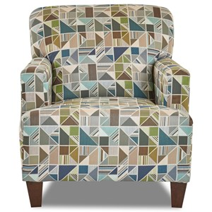 Tanner Modern Track Arm Chair with Expansive Seat Cushion