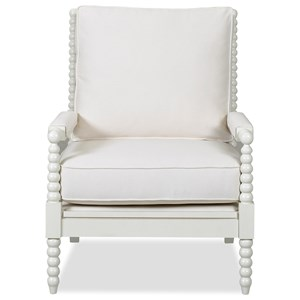 Rocco Accent Chair with Spool-turned Legs and Arms