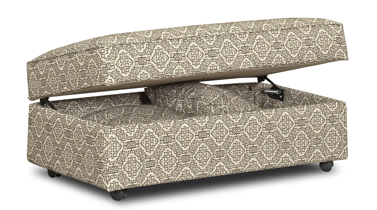Chairs and Accents Stella Storage Accent Ottoman by Klaussner at Johnny Janosik