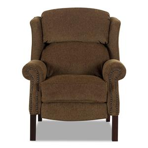 Klaussner High Leg Recliners Greenbrier High Leg Recliner